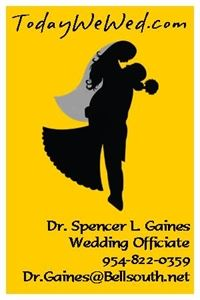 Dr. Spencer L. Gaines Wedding Officiant