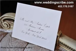 Calligraphy for Weddings by Anne Sheedy - Lincoln