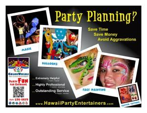 ColorWhims - Hawaii Party Entertainers